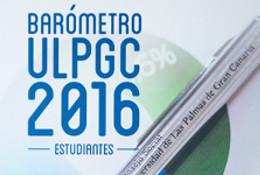 Portada del Barómetro ULPGC 2016 -Estudiantes-