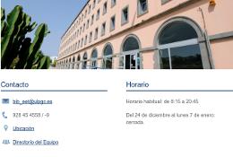 Nuevo diseño de página de Bibliotecas y Centros