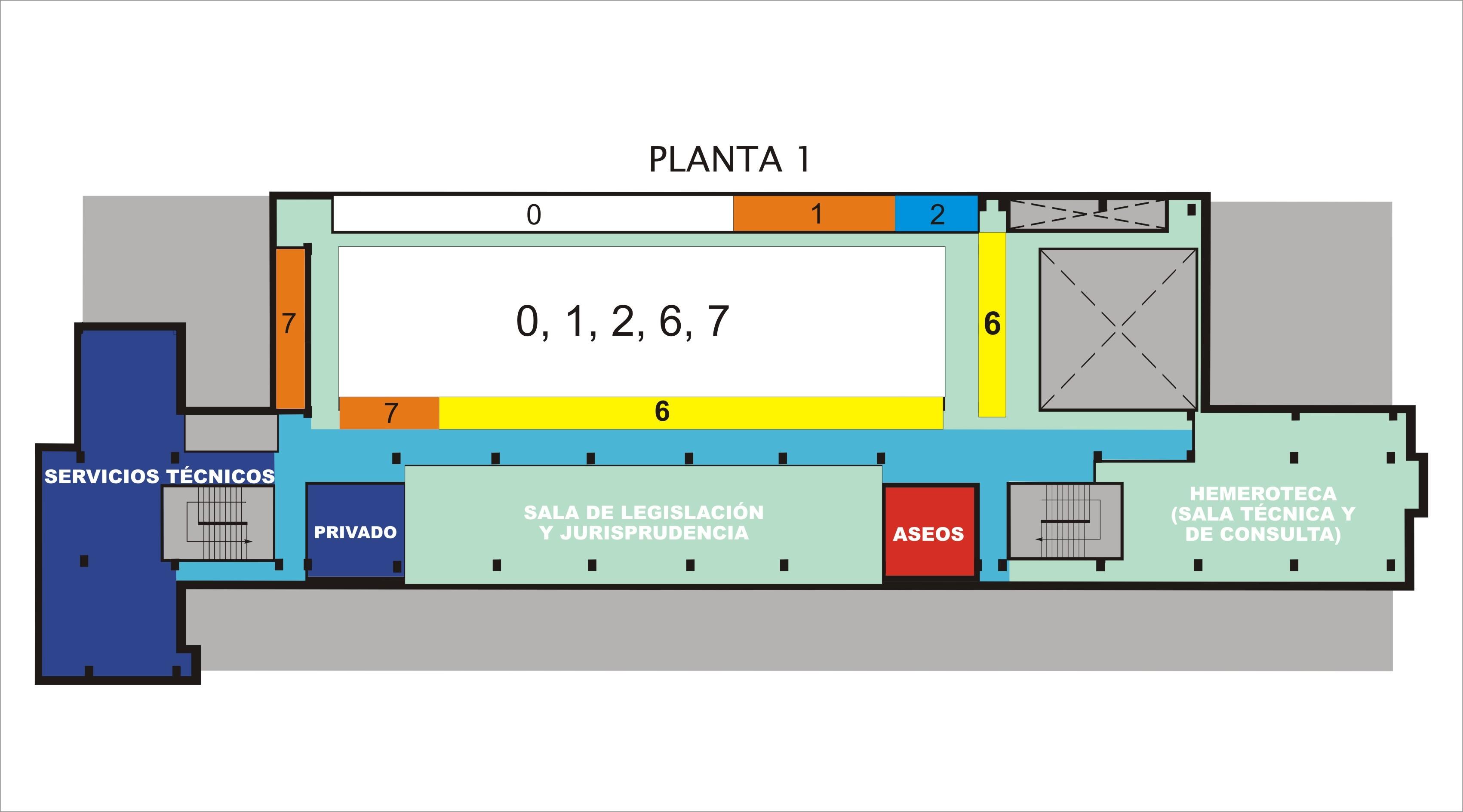 Consulta en sala biblioteca ulpgc for Planos de bibliotecas