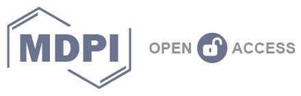 Logo de MPDI, con estas siglas en letras mayúsculas gruesas entre dos mitades de una representación de una estructura molecular. A la derecha el lema Open Access con un icono de un candado abierto