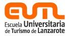 Anagrama de la Escuela Universitaria de Turismo de Lanzarote