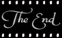 Vista estilizada de un trozo de cinta de cine con el rótulo The End