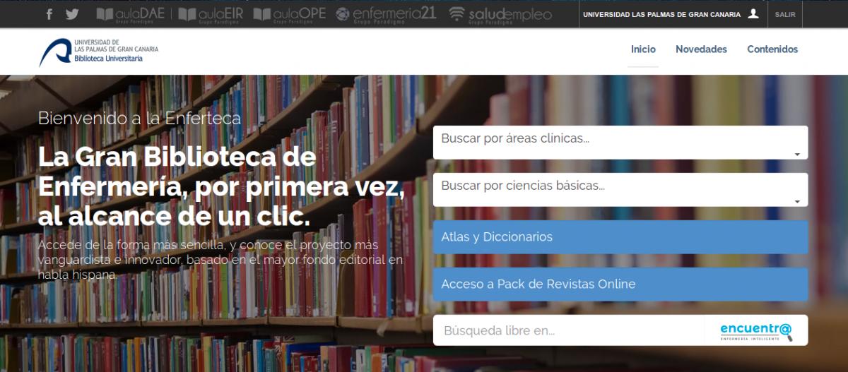 Enferteca: nuevo recurso de Enfermería   Biblioteca ULPGC