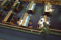 Pasillo de la Biblioteca de Electrónica