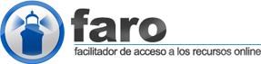 Logo de Faro. Faro con texto: Facilitador del acceso online a los recursos